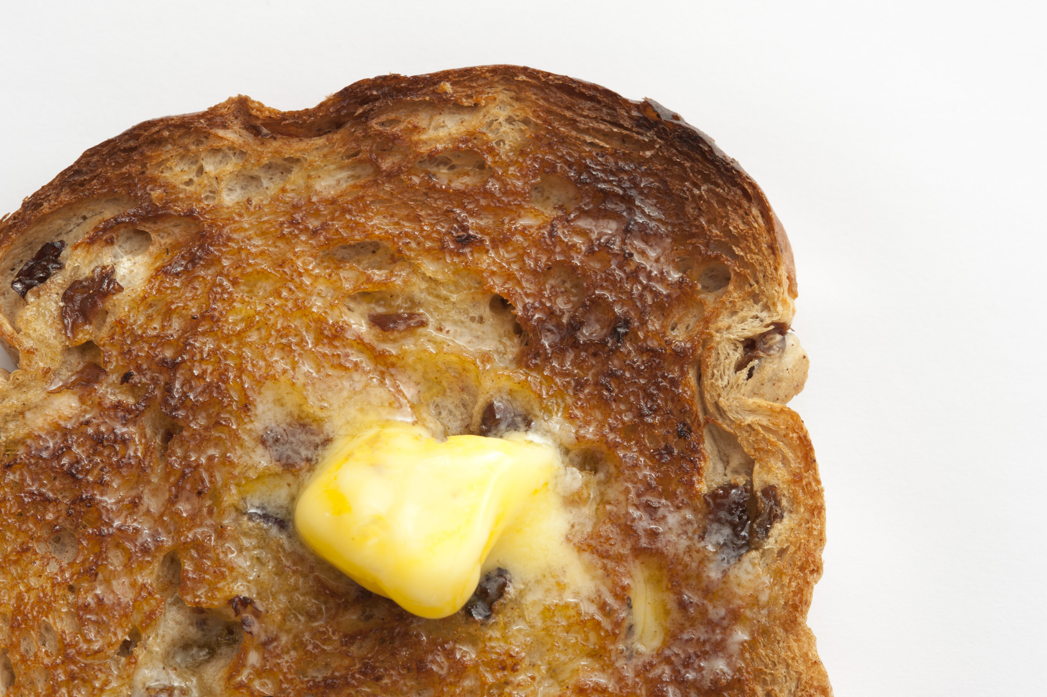 melted butter on a hot slice of toast