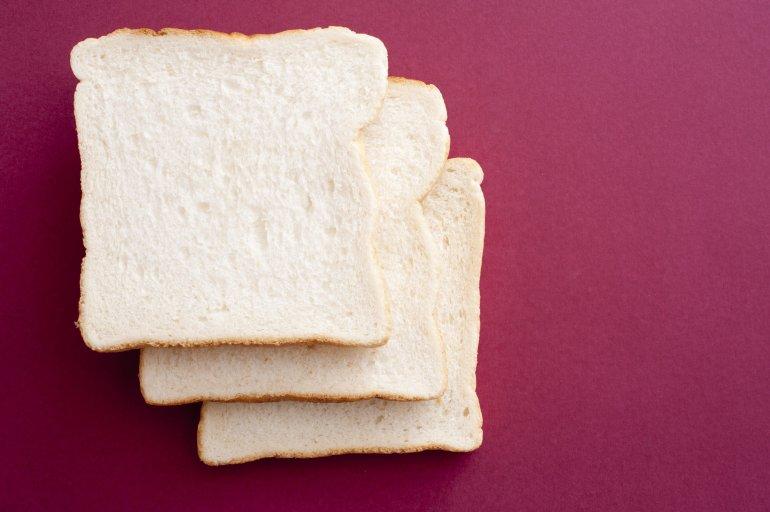 three bread slices