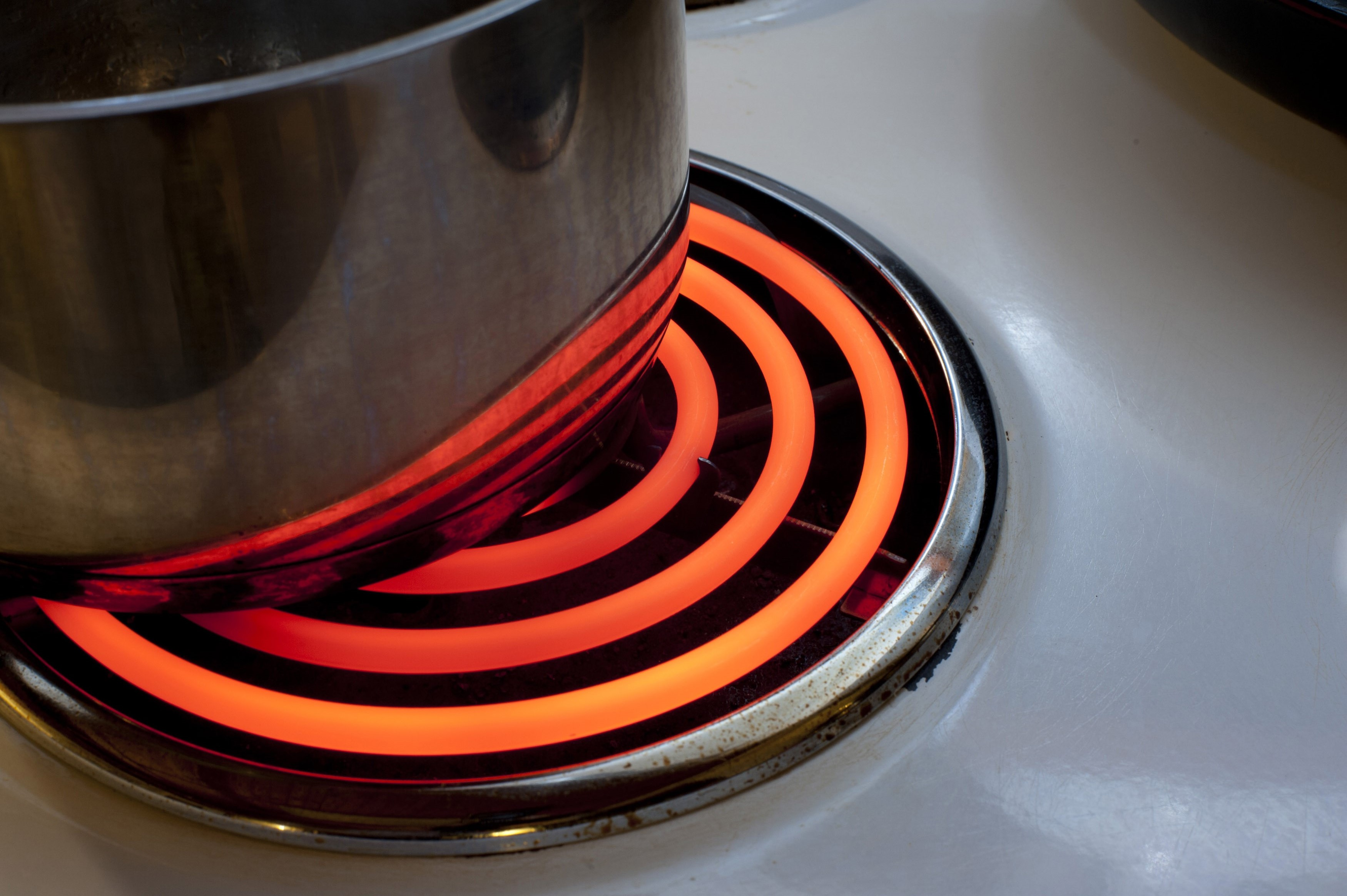 Electric Kitchen Stove Cooking On An Electric Stove  Free Stock Image