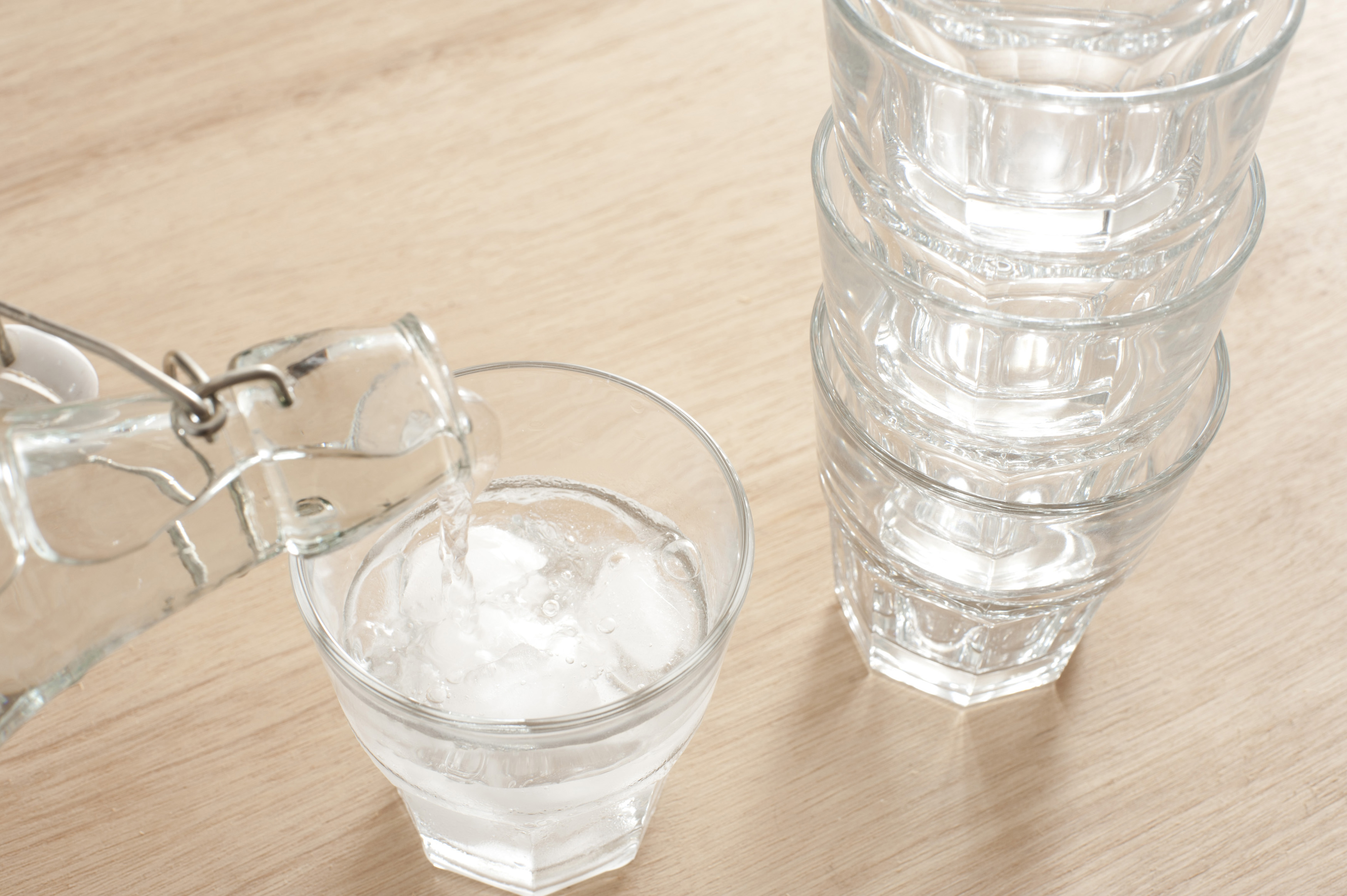 Pouring a glass of fresh pure water - Free Stock Image