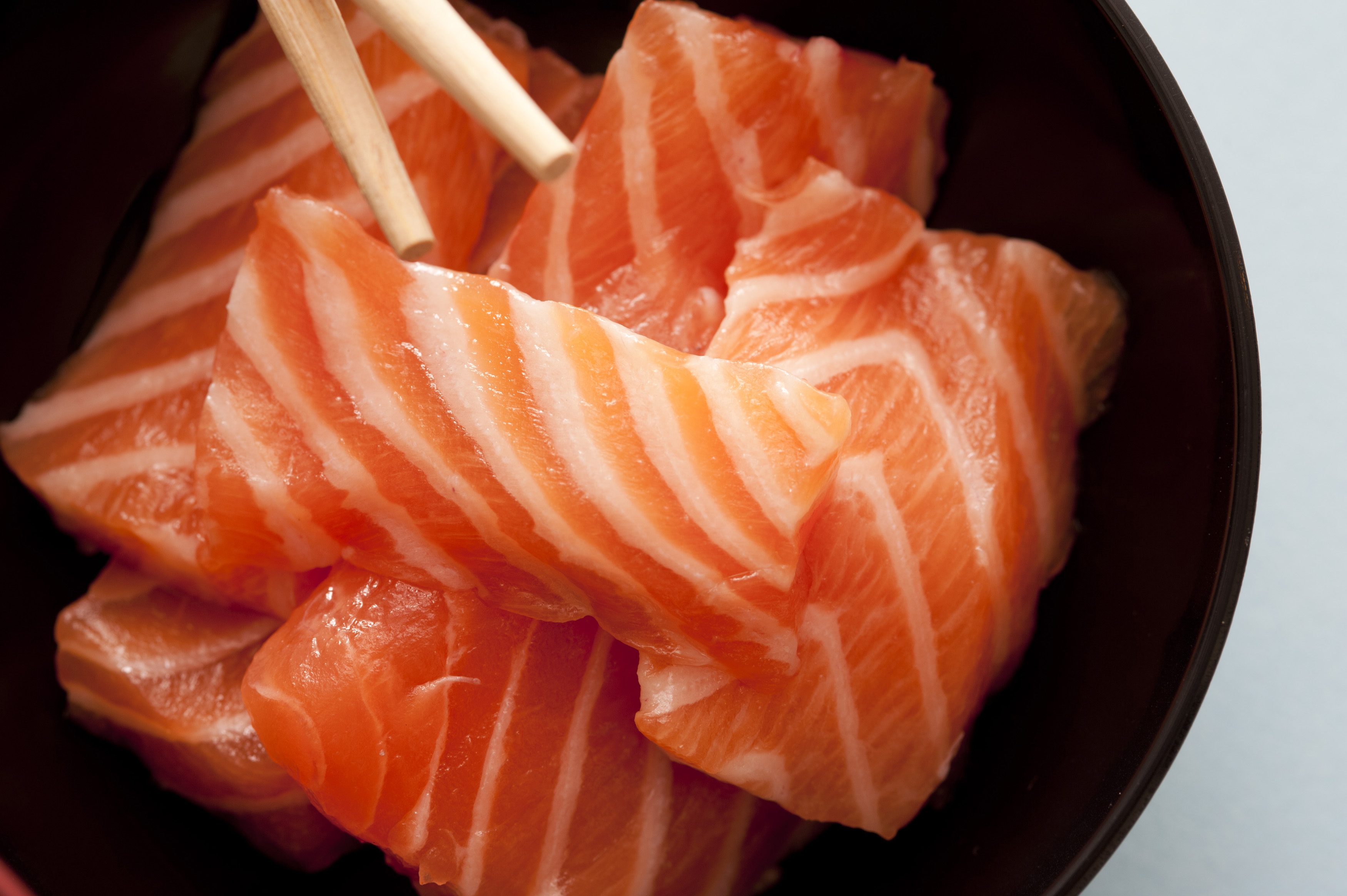 sashimi raw fish strips close up free stock image