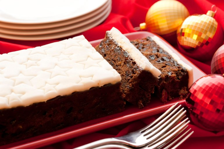 Traditional Fruity Christmas Cake Free Stock Image