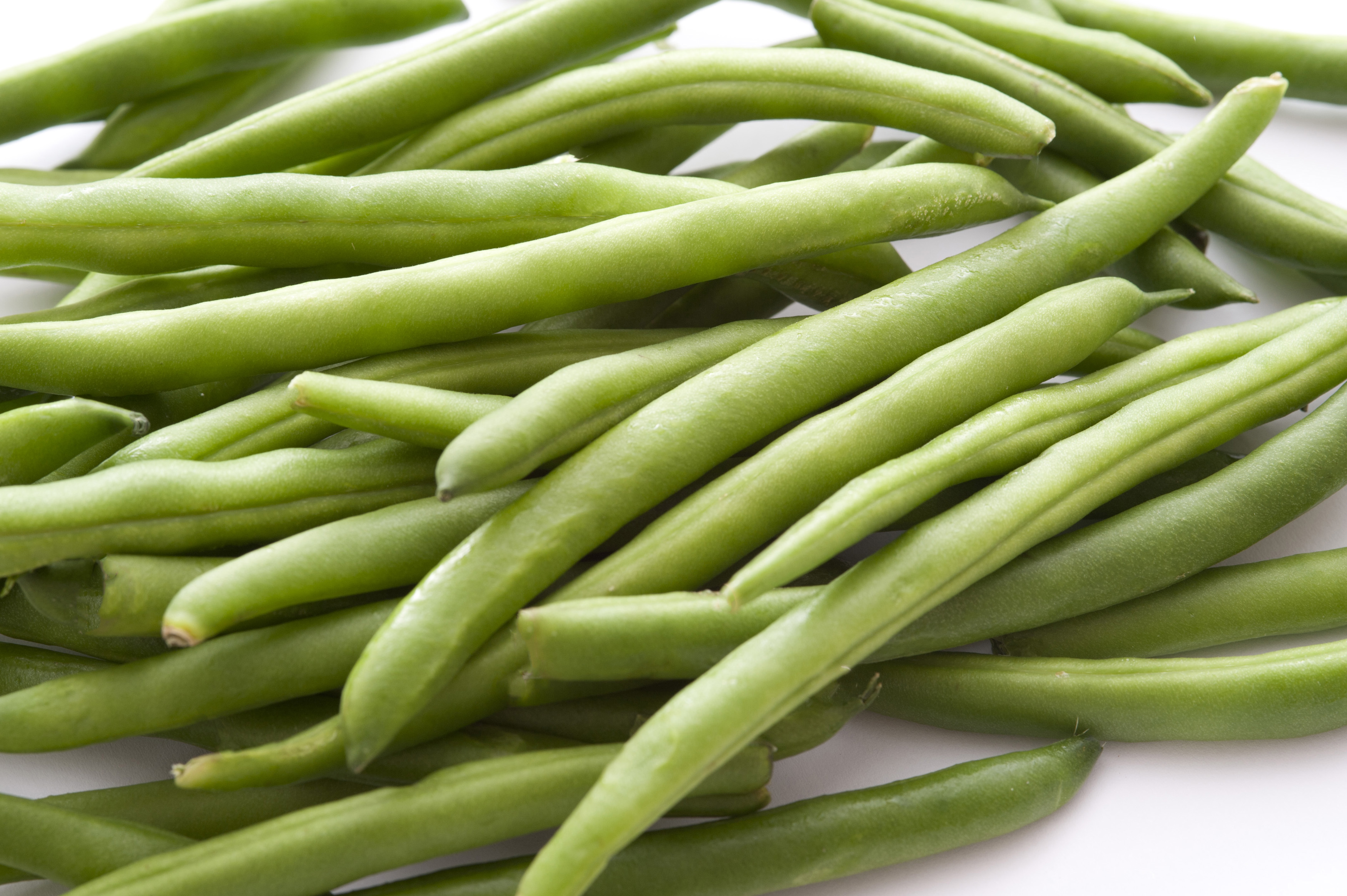 Close-up of heap of green beans
