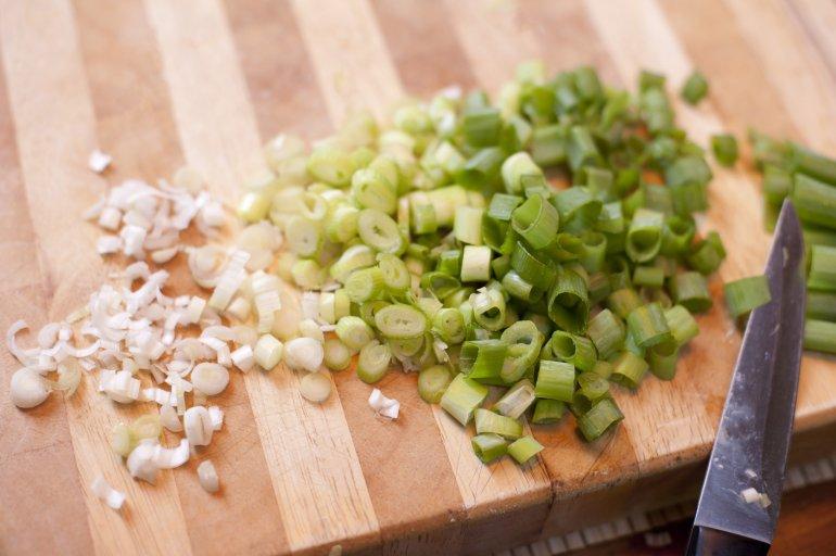 Chopped Spring Onion Free Stock Image