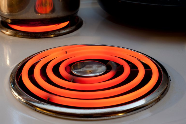 Red Hot Element On A Stove Free Stock Image