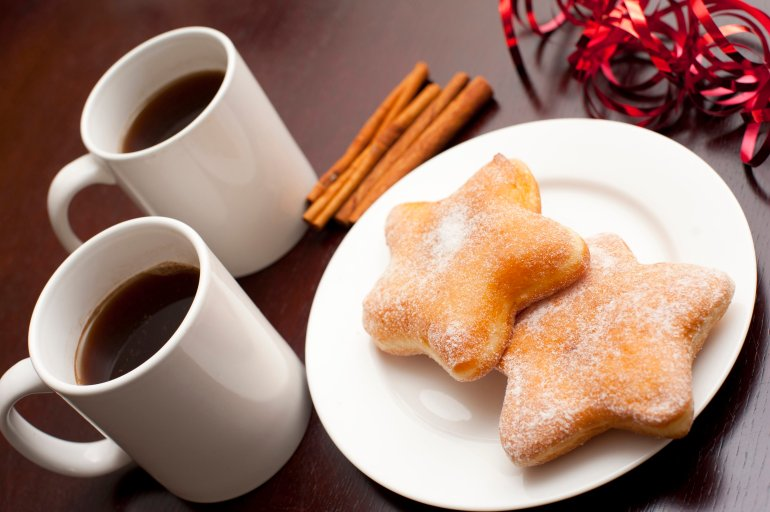 Star Shaped Christmas Doughnuts Free Stock Image