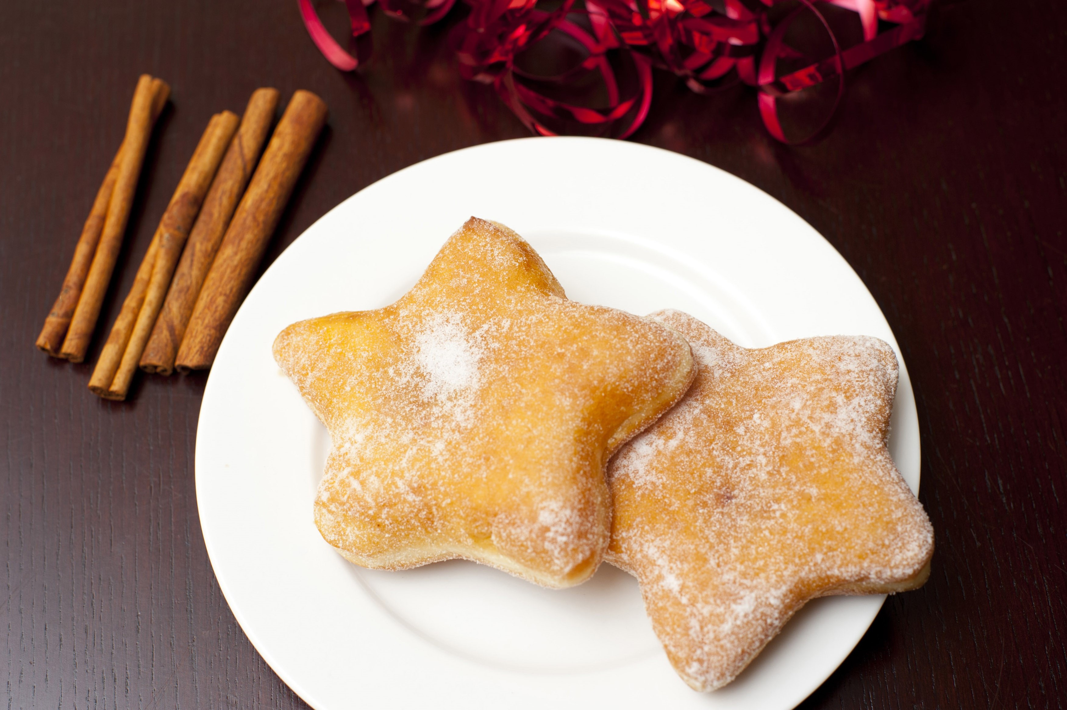 Star Shaped Doughnuts Free Stock Image